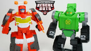 NEW Transformers Rescue Bots Heatwave Firetruck Boulder Digger And ...