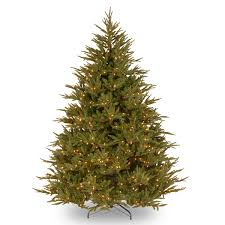 Christmas Tree Realistic Christmas Tree Pre Lit Deluxe Fraser Fir