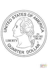 Click The Quarter Coin Coloring Pages