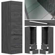 badezimmer set anthrazit gemasert miramar 02 140cm doppel waschtisch led spiegel und hochschrank b h t 190 200 50 5cm