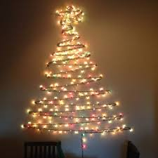 Christmas Tree Made Of Lights On Wall Diy 33 Awesome Outdoor Lighted Decorations Wholesale