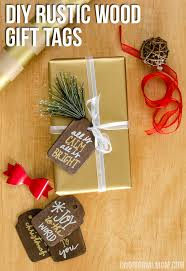 Rustic Stained Wood Gift Tags With Metallic Sharpie Paint Pens A Beautiful Addition To Holiday