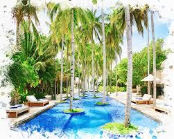 100 Maldives Infinity Pool Cool Infinity Pool Paintings By Angelo Artistcom
