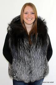 glacier wear women u0027s silver fox hooded fur vest for sale
