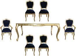 casa padrino luxus barock esszimmer set royalblau gold 1 esstisch mit glasplatte und 6 stühle barock esszimmermöbel made in italy luxury