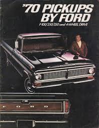 1970 Pickup Ford Truck Sales Brochure