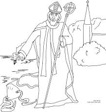 Printable Colouring Pages Great Sheets Free St Patricks Day Pictures Saint Driving Out The Snakes Of Catholic Coloring Page