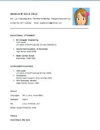 High School Graduate Resume No Experience Sample For Fresh Graduates With Without Work