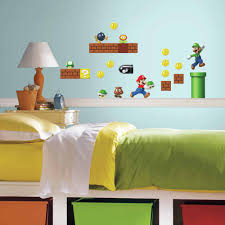 Wall Decor Stickers Walmart Canada by Nintendo Super Mario Build A Scene Peel And Stick Wall Decals