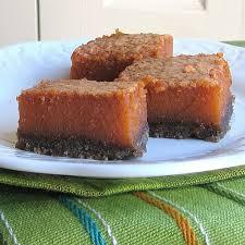 Pumpkin Gingersnap Cheesecake Bars by Pumpkin Bars With Gingersnap Crust Recipe