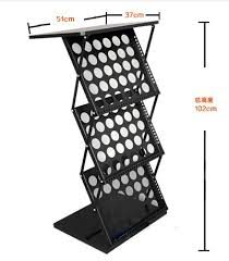Folding Literature Standliterature Holder With Table Topfolding Magazine Rack Top