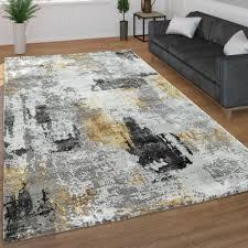 möbel wohnen moderner kurzflor wohnzimmer teppich 3d optik