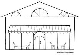 Restaurant Coloring Sheets Free In Style