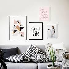 mur photos pour salon cuadros nordique décoration oiseau