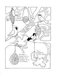 Coloring Sheet Of Birds Feeding