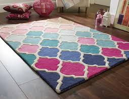 Illusion rug rosella pink blue Buy line at Rugs Direct 2U