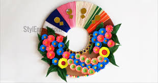 Picture Of DIY Wall Decoration Idea How To Make A Paper Wreath For Home