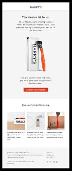 4 Email Marketing Tactics To Boost Customer Referrals - The ... Monarwatch Org Coupon Code Popeyes Coupons Chicago Harrys Razors Coupon Carolina Pine Country Store Blundstone Website My Completely Honest Dollar Shave Club Review Money Saving 25 Off Billie Coupon Codes Top January Deals Elvis Duran Harrys Bundt Cake 2018 Razors Codes 20 Findercom Mens Razor With 2ct Blade Cartridges Surf Blue 4 Email Marketing Tactics To Boost Customer Referrals The Bowery Boys Official Podcast Sponsors And A List Of Syskarmy Try For 300 Plus Free Shipping So We Are