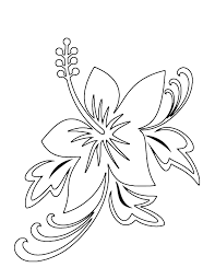 Hawaiian Flower Coloring Pages Tropical