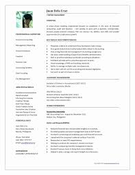 Accounting Resume Examples Luxury Template Inspirational Sample Of Lovely