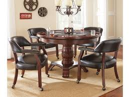 Tournament Tournament Round Game Table & Caster Arm Chair Set By Vendor  3985 At Becker Furniture World Ding Room Sets With Upholstered Chairs Casters Fniture Wilsons Bellingham How To Mix Match Home Mismatched Ding Formal Clearance Scrolling 5 Piece Set By Hillsdale Luxury Table And Architecture Camping Rattan Kitchen Dinette Set Caster Cherry Finish Loma Flexsteelcom Pin On Tables And Chairs Arms Tbutcherandbarrelco With