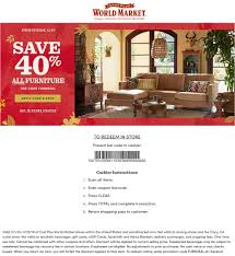 World Market Coupons - 40% Off Furniture At World Market, Or Online ... 28 Proven Cost Plus World Market Shopping Secrets The Krazy Coupon 40 Off Coupons Promo Discount Codes Wethriftcom Tint World Cary Code For Mermaid Swim Tails Save Money With Direct Cbd Online Coupon Get Now Coupons Lady Best Black Friday Sales Home Decor Fniture Peoplecom Market Archives Addisons Woerland On Itunes Baja Fresh And More Encino How To Develop A Successful Marketing Strategy Increase Hello Kitty Collecvideosinspiration Ecommerce Promotions 101 For 20 Growth