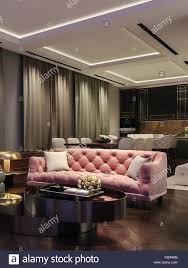 modernes interior design wohnzimmer nachtaufnahme mit