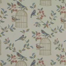 Shabby Chic Songbird Wallpaper