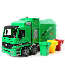 100 Rubbish Truck Childrens Side Loading Garbage Can Be Lifted With 3