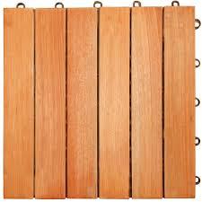 three posts cadsden hardwood 12 x 12 interlocking 6 slat deck