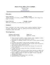 Accounting Mba On Resumes