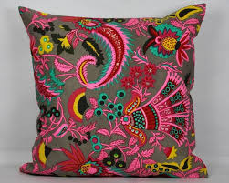 Ethnic Pillows Floral Pillow Cover 20x20 Pillow Cover 18x18 Pillow