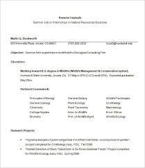 Intern Resume Template Internship Resume Template 11 Free Samples