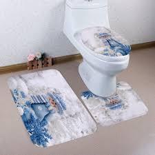 Christmas Red Bathroom Rugs by Bath Rugs U0026 Toilet Covers Cheap Bath Mats U0026 Toilet Lid Covers