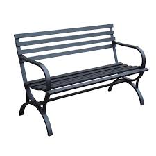 garden treasures steel park bench lowe s canada home sweet