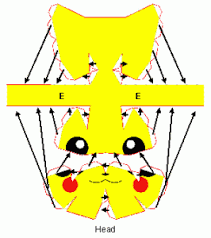 Pikachu Papercraft Model Assembling Instruction