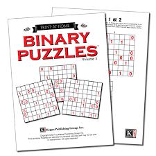 Print at Home Binary Puzzles – Kappa Puzzles