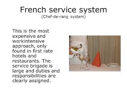 chef de rang duties contents the service system ideal and serving