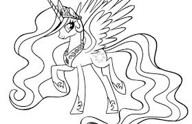 Princess Pony Coloring Pages My Little Luna Filly