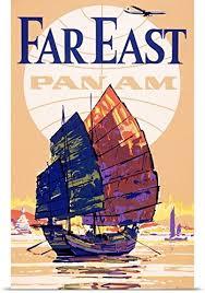 Far East Pan Am Vintage Poster Print