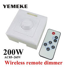 200w white led dimmer ir knob switch wireless remote many