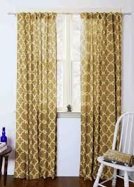 Moroccan Lattice Curtain Panels by Moroccan Curtains Yellow Tiles Mustard Geometric Window