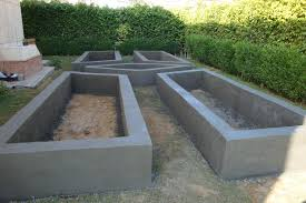 Raised Garden Bed Made Block And Covered With Concrete