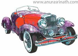 Free Drawing Of Vintage Car From The Category Cars Trucks Buses