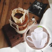 50Pcs Pack Drip Coffee Filter Bag Portable Hanging Ear Style Filters Paper Home Office Travel Brew Bolsas De Te
