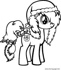 Print My Little Pony Christmas Coloring Pages