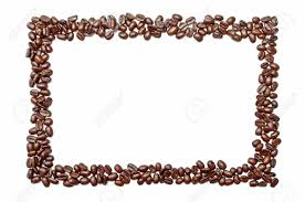 Frame Made Out Of Coffee Beans Stock Photo