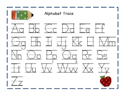 Alphabet Tracing Pages 2014 printable