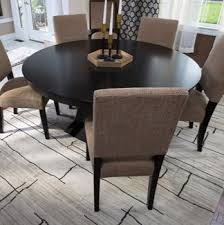 Area Rug In A Dining Room