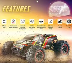 100 Fast Electric Rc Trucks 110 Scale Large Remote Control Car 48kmh Speed Boys 44 Off